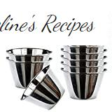 Space Home - Individual Flanero - Stainless Steel - Set of 12 - Diameter 8 cm