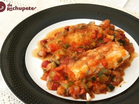 Cod with vegetable ratatouille
