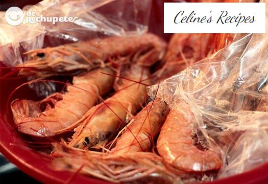 Prawns or prawns. How to prepare a broth or flavored oil.
