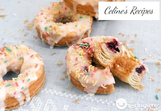 Homemade cronuts. Step by step recipe