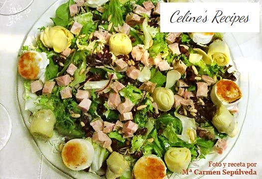 Chicken, artichoke and goat cheese salad