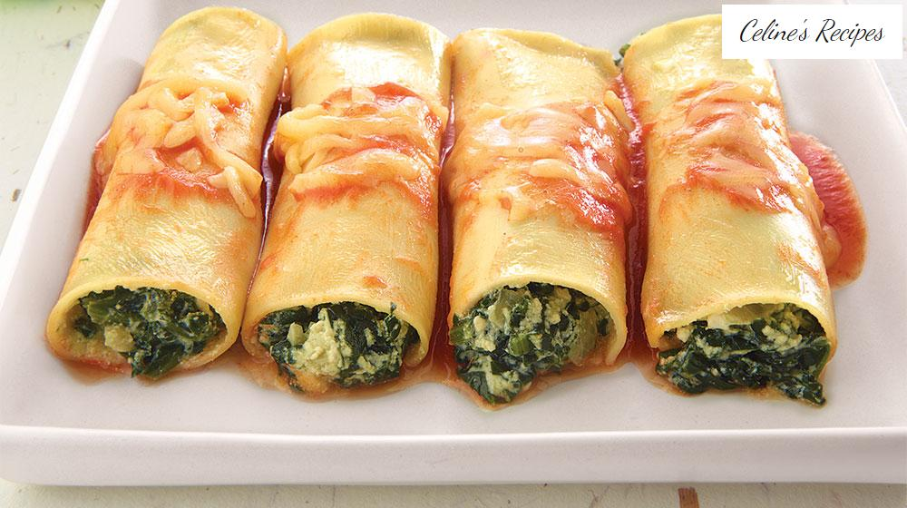 Spinach cannelloni with Ricotta