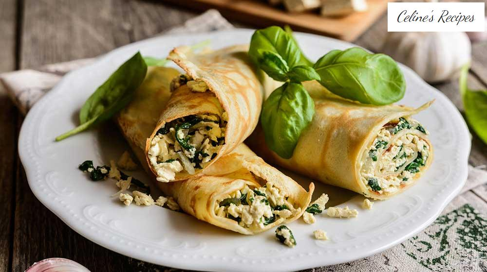 Rich spinach crepes to pamper your palate