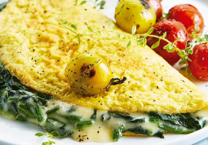 omelette-baked-with-spinach